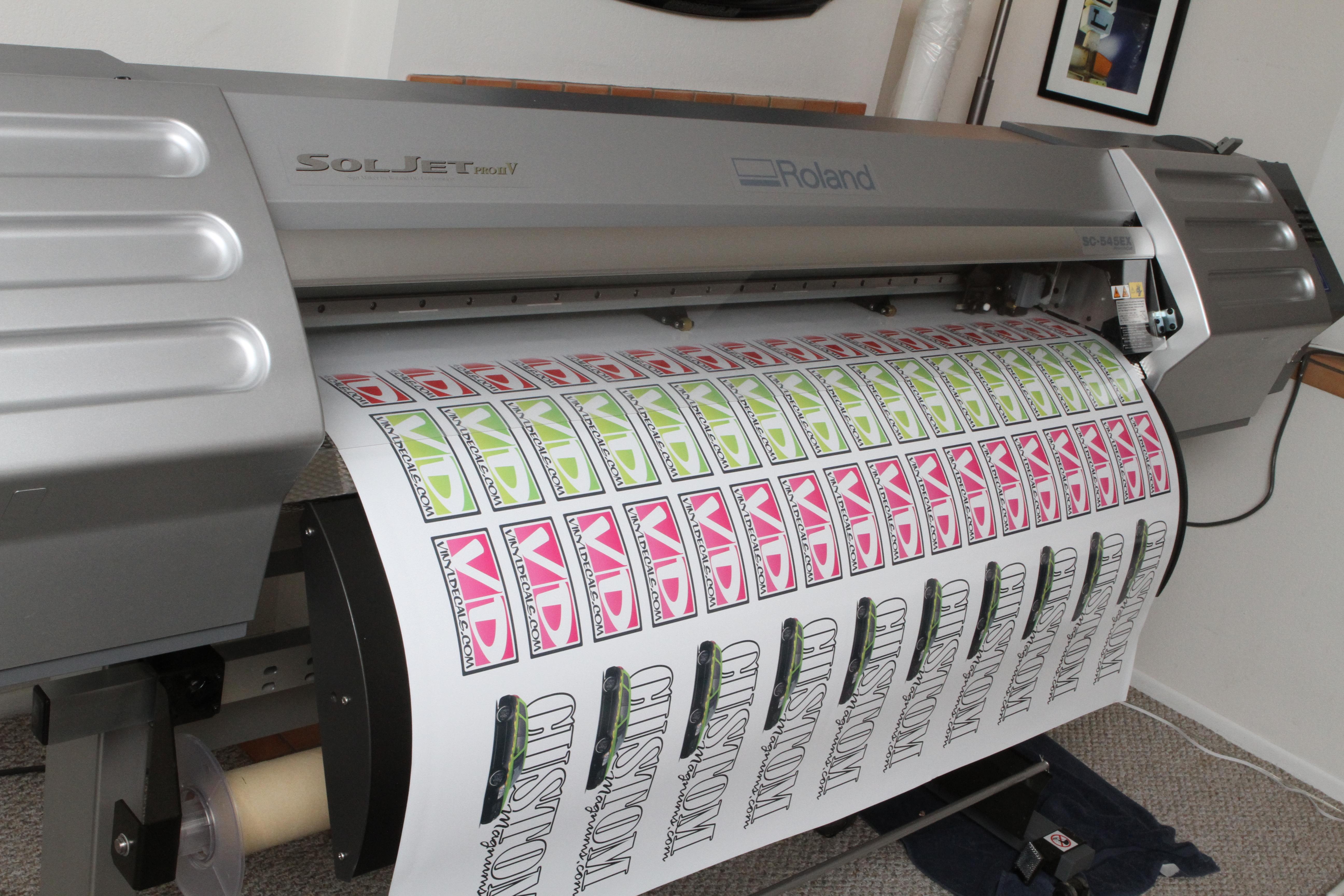 Roland Sc Vinyl Decals Graphics And Stickers - Vinyl decal printer