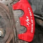 Dodge Challenger R/T brake caliper decals